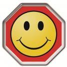 Sticker  Stop and Smile